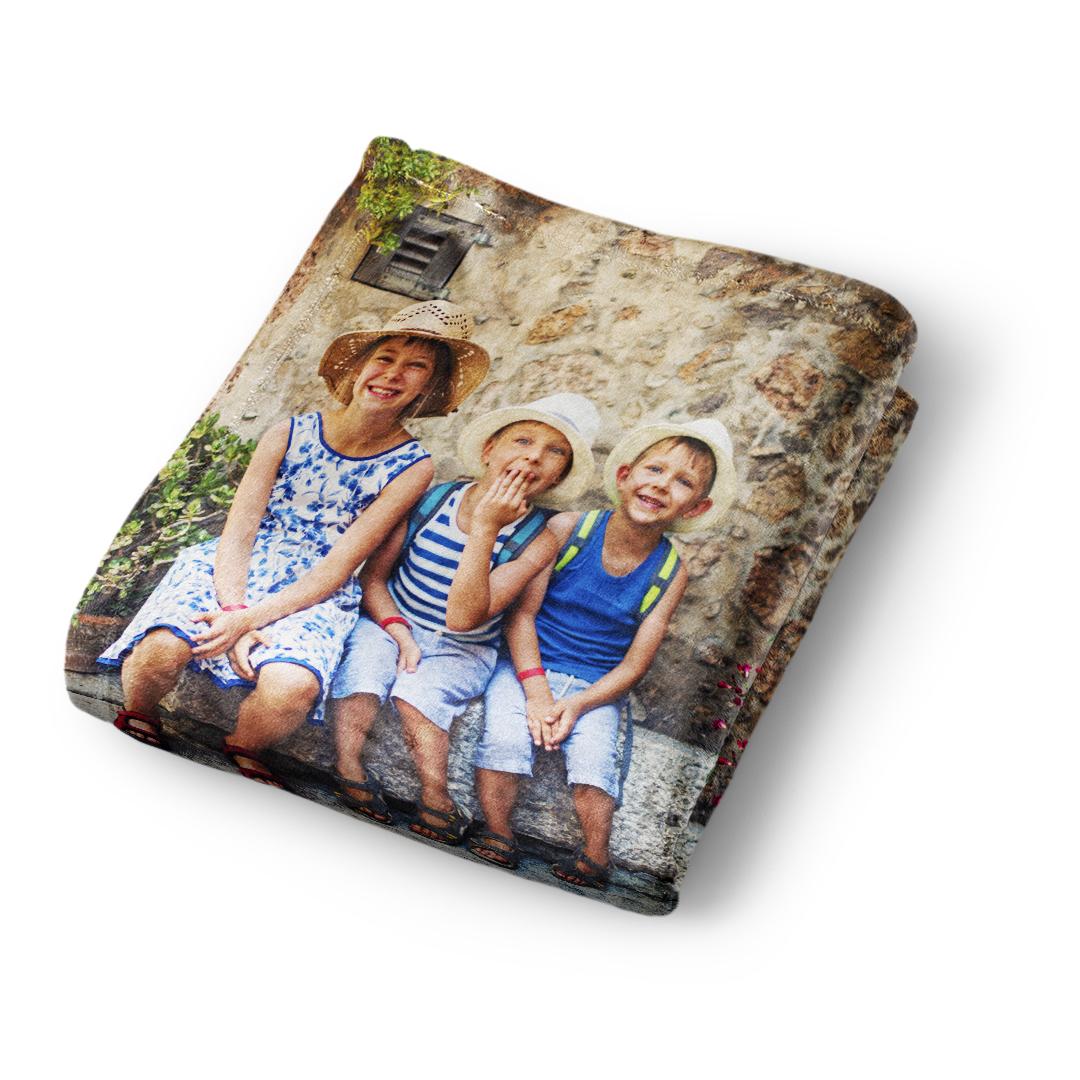 Make A Custom Blanket.Plush Fleece Photo Blanket